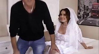 My wedding night .. bride slut wifey fucked by black stud bbc on wedding night